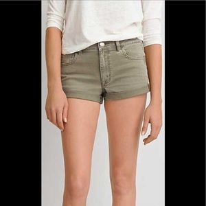 American Eagle olive green high-rise shortie